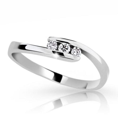 Prsten z bílého zlata s