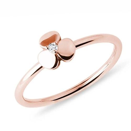 prsten růžové zlato