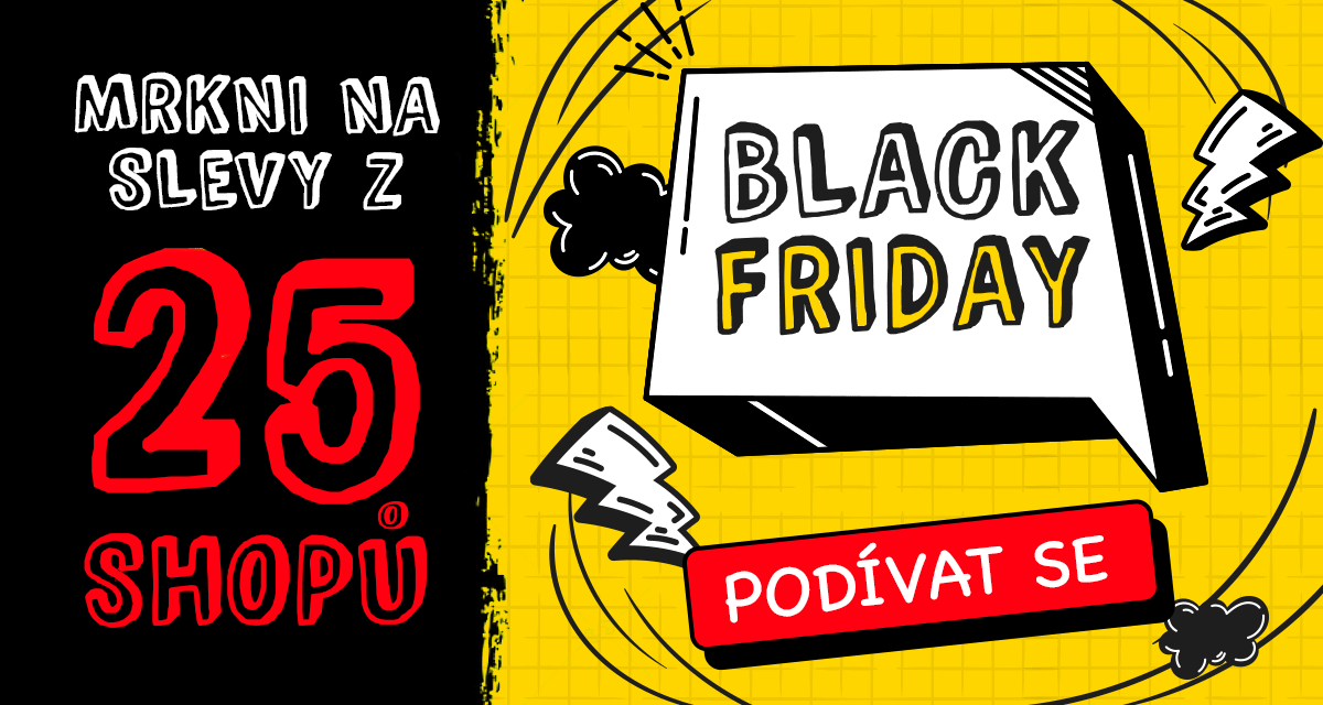 Black Friday 2020: 25 e-shopů na jednom místě